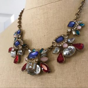 🍁LOFT holiday statement colorful necklace gold